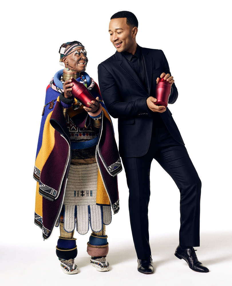 PREVIDAR-JOHN-LEGEND-& ESTHER MAHLANGU WITH SHAKERS
