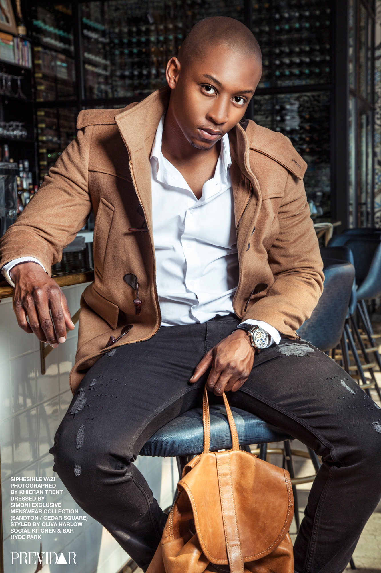 #PrevidarCareers: Siphisihle Vazi, 2 Piece Suit by SIMONI Exclusive Menswear Collection (Sandton). Photo by Kieran Trent