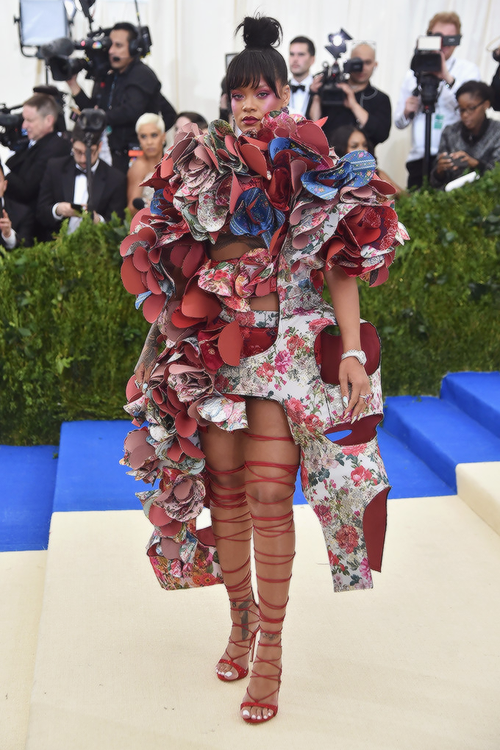 Rihanna attends the 'Rei Kawakubo/Comme des Garcons: Art Of The In-Between'