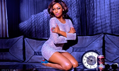 Bonang Matheba on previdar 2014 Brutal Fruit photographed by Lawrence